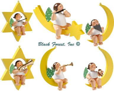650-70 Set 1 Wendt and Kuhn Angel Musicians Ornament Set