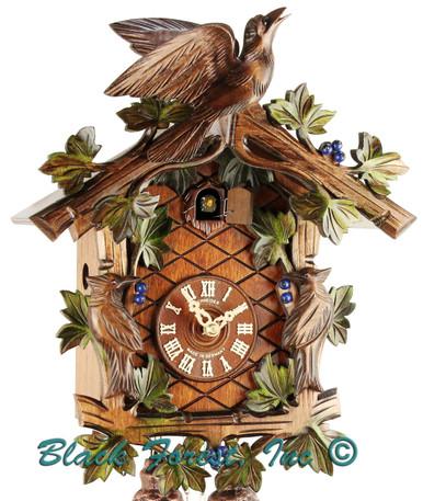 337-10 3 Bird 1 Day Painted Anton Schneider Cuckoo Clock