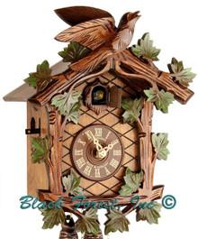 8T 48-10 8 Day 1 Bird Anton Schneider Painted Carved German Cuckoo Clock