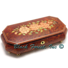 83CFO-36 INLAID ROSES 36 NOTE Italian Music Box