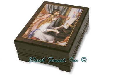 89195 RENOIR GIRLS AT PIANO Jewelry Music Box