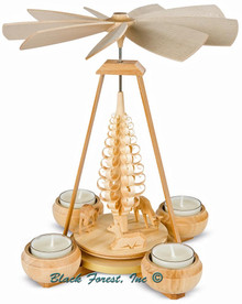 10108 Mueller Natural Tea Light Deer Pyramid