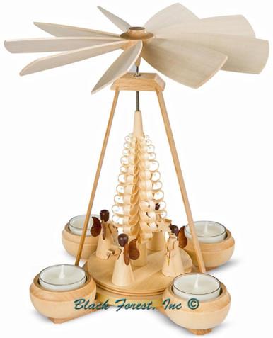 10112 Mueller Natural Tea Light Angels Pyramid