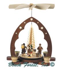 10344 Mueller Forest Scene Christmas Pyramid