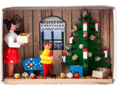 BF-028116 Christmas Tree Matchbox from Germany