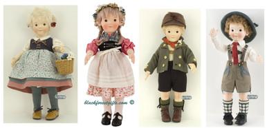 710500 Steiff Felt Doll Set