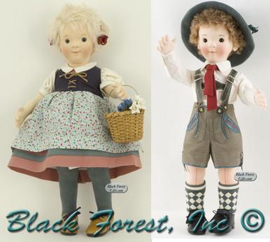 710230-710254 Steiff Sophie and Mathias Felt Doll Set
