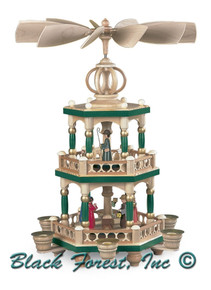 10456 Painted Two Tier Christmas Story Mueller German Pyramid
