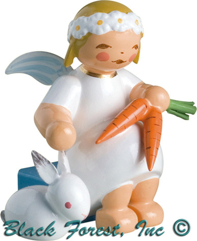 634-70-12 Wendt and Kuhn Marguerite Angel Sitting with Bunny and Carrots