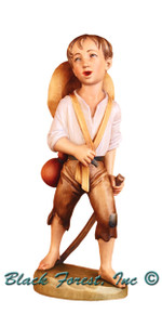 79770-110 Anri 4 Inch Bernardi Hand Painted Boy with Stick