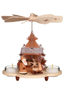 33-212 Natural Santa and Toys Ulbricht Tea Light German Pyramid