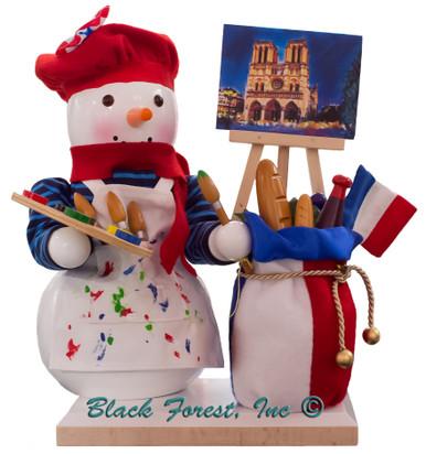 S2001 French Snowman Steinbach Nutcracker from Germany
