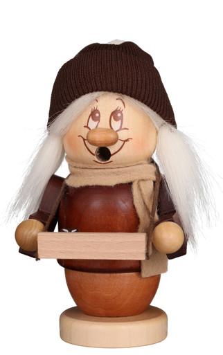 35-314 Ulbricht Incense Burner Dwarf Mini Toy Peddler Girl Smoker