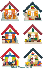 4150 Houses Ornament Set from Graupner from Germany