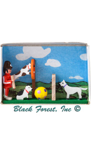 028-145 Dog Training School Matchbox from Germany