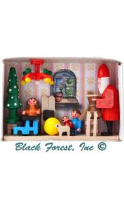 028-107 Santas Workshop Matchbox from Germany