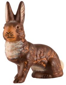708 Dark Brown Sitting Easter Bunny Schaller Paper Mache Candy Container
