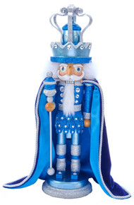 HA0490 Blue King With Swarovski Hollywood Nutcracker