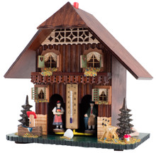 828 Large Wood German Weather House