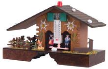 900E Animated Platform Wood German Weather House