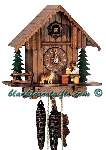 1203-9 Beer Drinker Chalet 1 Day Cuckoo Clock