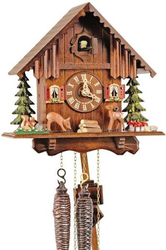1207-9 Deer Chalet 1 Day Cuckoo Clock