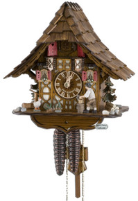 1695-9 Wood Chopper Chalet 1 Day Cuckoo Clock