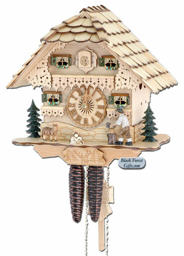75-0 Wood Chopper Chalet 1 Day Cuckoo Clock
