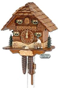 75-9 Wood Chopper Chalet 1 Day Cuckoo Clock