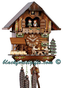 MT1407-10 Musical Beer Drinkers Chalet 1 Day Cuckoo Clock