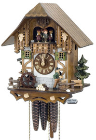 MT6563-9 Musical Wood Chopper Chalet 1 Day Cuckoo Clock