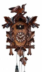 Q110-9 Anton Schneider Quartz Battery Carved Cuckoo Clock