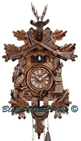 Q205-9 Anton Schneider Quartz Battery Hunters Cuckoo Clock