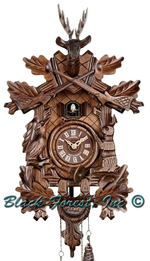Q205-9 Anton Schneider Quartz Battery Hunters Cuckoo Clock