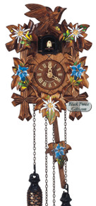 Q90-10E Anton Schneider Quartz Battery Painted Carved Cuckoo Clock
