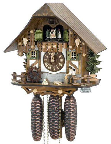 8TMT6405-10 Anton Schneider 8 Day Wood Chopper Cuckoo Clock