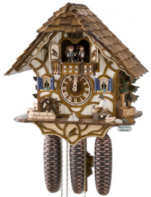 8TMT6415-9 Anton Schneider 8 Day Wood Chopper Cuckoo Clock