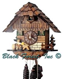 1104-9 beer Drinker Chalet 1 Day Cuckoo Clock