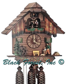 8TMT5405-10 Anton Schneider 8 Day Wood Chopper Cuckoo Clock