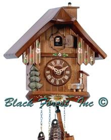 7063-10 Chalet Chimney Sweep 1 Day Cuckoo Clock