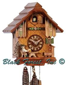 1103-10 Beer Drinker Chalet 1 Day Cuckoo Clock