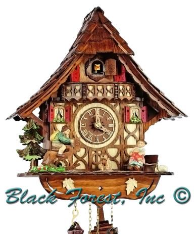 8T1688-9 Anton Schneider 8 Day Rocking Horse Cuckoo Clock