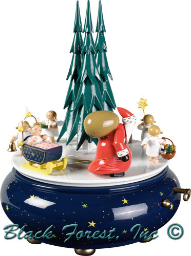 5336-35AA WENDT AND KUHN SANTA MUSIC BOX