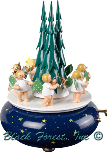 5336-70AA WENDT AND KUHN ANGELS WITH TREE MUSIC BOX