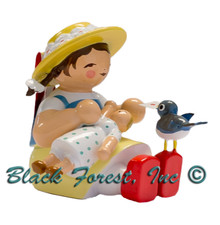 5231-3 GIRL WITH BIRD AND DOLL FROM WENDT AND KUHN