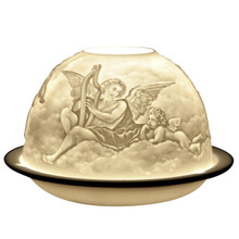 5715 Bernardaud Angels Lithophane Votive Candle