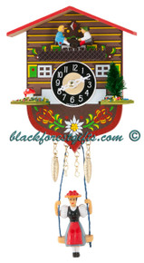 129KSQ Quartz Swinging Lady Seesaw Miniature Clock
