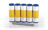 3633-0054; Rio Pro and Enduro Cleaning Rollers (5 sleeves, 1 roller bar)