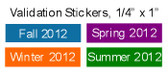 "Validation Stickers, 1/4"" x 1"", Tamper Evident"