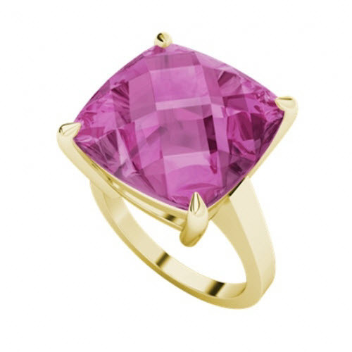 Pink Sapphire 9ct Yellow Gold Ring